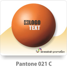 Anti Stress Ball Pu Bälle Farbe Orange Pantone 021 C