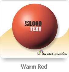 Anti Stress Ball Pu Bälle Farbe Warm Red