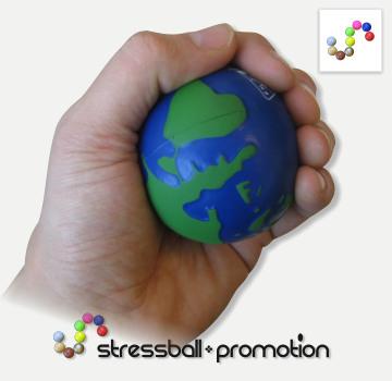 Stressball Antistressball Glubus bedrucken. Antistress Welt, Planet Erde