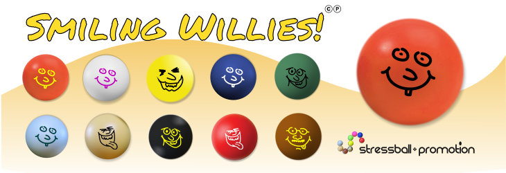 Stressball Smiley Smiling Willis Farben
