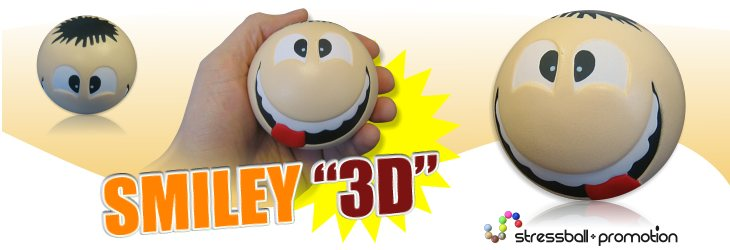 Antistressball Smiley 3 D - Smiley, neue Generation