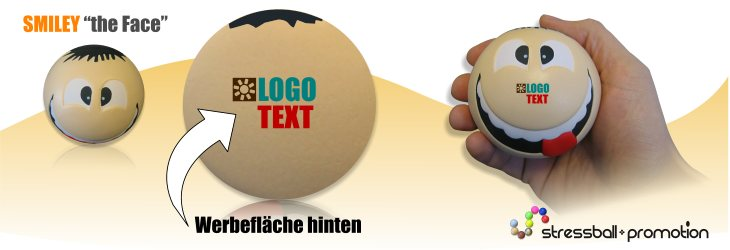 Antistressball Smiley 3 D - Smiley der neue Generation