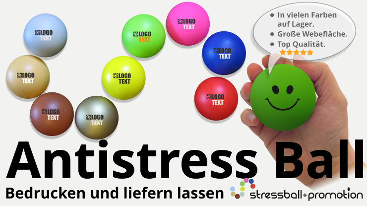 Antistressball Anti-Stressball Antistress Ball Knautschball bedrucken zur Promotion