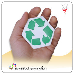 Bild Anti Stress Ball recycle Logo bedrucken