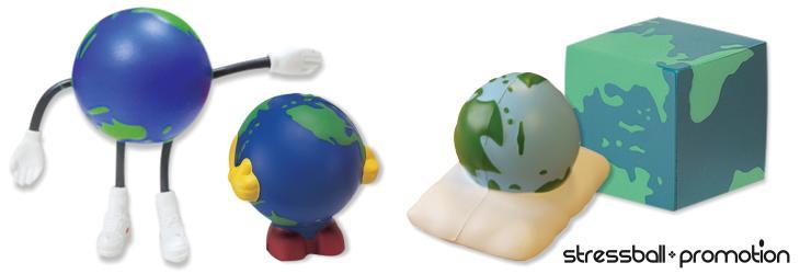 Bild Stressball Globus individuelle Herstellung
